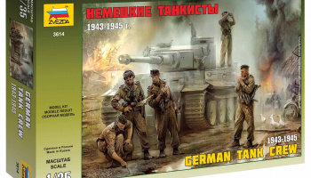Model Kit figurky 3614 - German Tank Crew (1943-1945) (1:35) – Zvezda