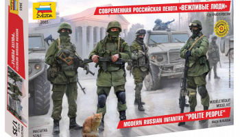 Model Kit figurky 3665 - Modern Russian Infantry (1:35) – Zvezda