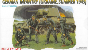 Model Kit figurky 6153 - German Infantry (Ukraine, Summer 1943) (1:35) – Dragon