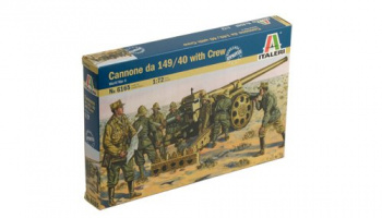 Model Kit figurky 6165 - WWII - Cannone da 149/40 with Crew (1:72)