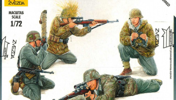 Model Kit figurky 6217 - German Sniper Team (1:72)
