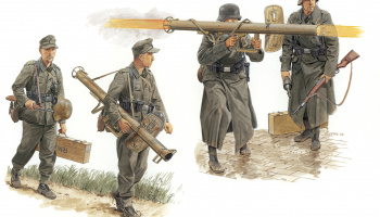 Model Kit figurky 6374 - GERMAN ANTITANK TEAM w/PANZERSCHRECK (GEN2) (1:35)