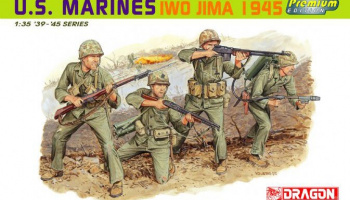 Model Kit figurky 6408 - U.S. MARINES IWO JIMA 1945 (1:35)