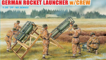 Model Kit figurky 6509 - GERMAN ROCKET LAUNCHER W/CREW (1:35)