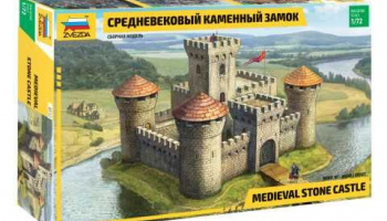 Model Kit hrad 8512 - Medieval Stone Castle (re-release) (1:72)