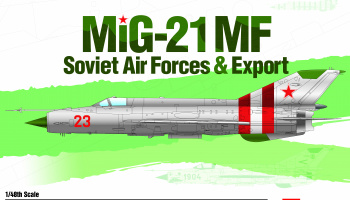 "Model Kit letadlo 12311 - Mig-21 MF ""Soviet Air Force & Export"" LE: (1:48)"