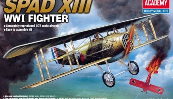 Model Kit letadlo 12446 - SPAD XIII WWI FIGHTER (1:72)