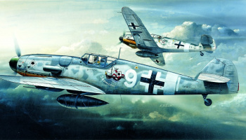 Model Kit letadlo 12467 - MESSERSCHMITT BF109G-6 (1:72)