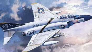 "Model Kit letadlo 12529 - USN F-4J ""VF-84 Jolly Rogers"" (1:72)"