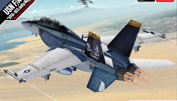 "Model Kit letadlo 12535 - USN F/A-18F ""VFA-103 Jolly Rogers"" MCP (1:72)"