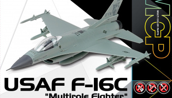 "Model Kit letadlo 12541 - USAF F-16C ""Multirole Fighter"" MCP (1:72)"