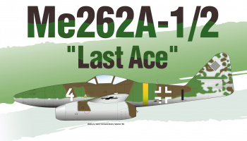 "Model Kit letadlo 12542 - Me262A-1/2 ""Last Ace"" LE: (1:72)"