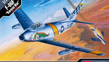 "Model Kit letadlo 12546 - F-86F ""KOREAN WAR"" LE: (1:72)"