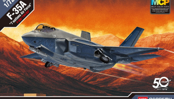 "Model Kit letadlo 12561 - F-35A ""Seven Nation Air Force"" MCP (1:72)"