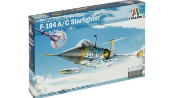 Model Kit letadlo 1359 - F-104 A/C STARFIGHTER (1:72)