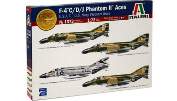 Model Kit letadlo 1373 - F-4 C/D/J PHANTOM II ACES USAF-US Navy Vietnam ACES (1:72)