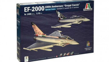 "Model Kit letadlo 1406 - EF-2000 100th Anniversary ""Gruppi Caccia"" Special Colors (1:72)"