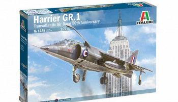 HARRIER GR.1 Transatlantic Air Race 50th Ann. (1:72) Model Kit 1435 - Italeri