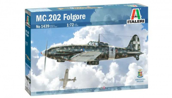 MC 202 Folgore (1:72) Model Kit letadlo 1439 - Italeri