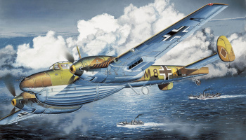 "Model Kit letadlo 3207 - Bf110D-1/R1 ""DACKELBAUCH"" (WING TECH) (1:32)"