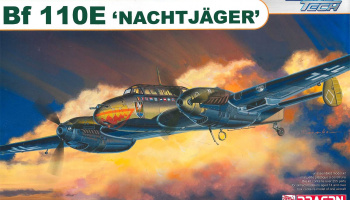 Bf110E Nachtjager (1:48) Model Kit 5566 - Dragon