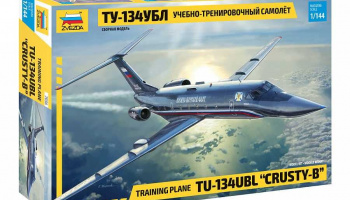 "Training plane TU-134UBL ""CRUSTY-B"" (1:144) Model Kit 7036 - Zvezda"