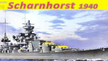 German Battleship Scharnhorst, 1940 (1:350) Model Kit 1062 - Dragon