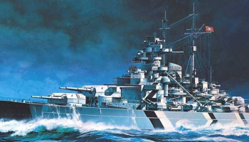 Model Kit loď 14218 - BATTLESHIP BISMARCK (STATIC) (1:800)
