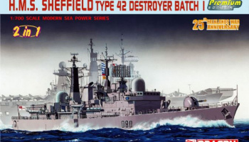 Model Kit loď 7071 - H.M.S. SHEFFIELD TYPE 42 DESTROYER BATCH 1 (1:700)