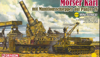 Model Kit military 14135 - Morser Karl mit Munitionsschlepper auf Panzer IV (1:144) - Dragon