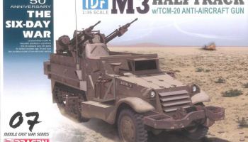 Model Kit military 3586 - IDF M3 Halftrack w/TCM-20 Anti-Aircraft Gun (1:35)