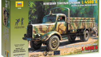 German Heavy Truck L4500A (1:35) Model Kit 3596 - Zvezda