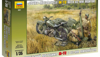 Soviet Motorcycle M-72 with Mortar (1:35) - Zvezda