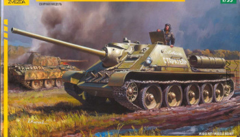SU-85 Soviet Tank Destroyer (1:35) Model Kit military 3690