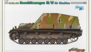 Model Kit military 6151 - Sd.Kfz.165 GESCHÜTZWAGEN III/IV für MUNITION (SMART KIT) (1:35)