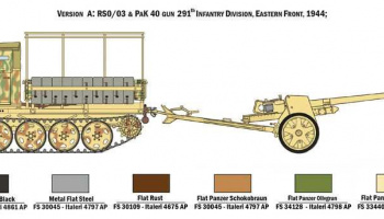 Model Kit military 6563 - RSO/03 with PAK 40 (1:35) – Italeri