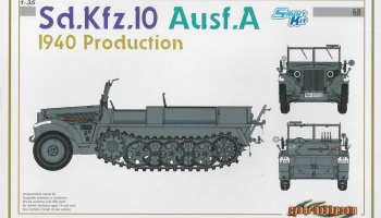 Model Kit military 6630 - Sd.Kfz.10 Ausf.A 1940 PRODUCTION (SMART KIT) (1:35)