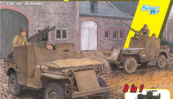 Armored 1/4-Ton 4x4 Truck 3v1 (1:35) Model Kit 6727 - Dragon