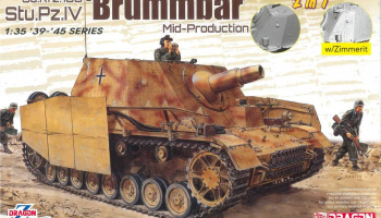 Sd.Kfz.166 Stu.Pz.IV 'BRUMMBÄR' MID-PRODUCTION (2 IN 1) (1:35) Model Kit military 6892 - Dragon