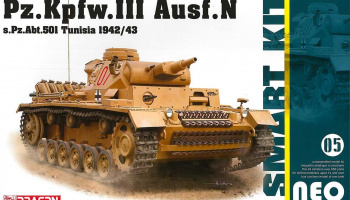 Pz.Kpfw.III Ausf.N s.Pz.Abt.501 Tunisia 1942/43 (Neo Smart Kit) (1:35) Model Kit military 6956 - Dragon
