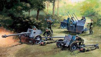 Model Kit military 7026 - GERMAN GUNS SET: PAK35-PAK40-FLAK38 (1:72) - Italeri