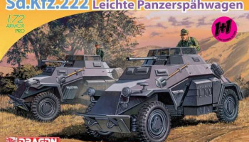 Model Kit military 7393 - Sd.Kfz.222 LEICHTE PANZERSPÄHWAGEN (1:72) – Dragon