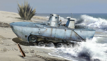 "Model Kit military 7485 - IJN TYPE 2 AMPHIBIOUS TANK ""KA-MI"" W/FLOATING KIT EARLY PRODUCTION (1:72)"