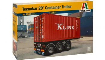 TECNOKAR 20' CONTAINER TRAILER (1:24) Model Kit 3887 - Italeri