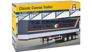 CANVAS TRAILER (classic) (1:24) Model Kit 3908 - Italeri
