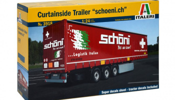 Curtainside Trailer (1:24) Model Kit 3918 - Italeri