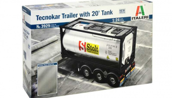 TECNOKAR TRAILER WITH 20' TANK (1:24) Model Kit 3929 - Italeri
