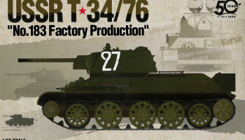 "Model Kit tank 13505 - USSR T-34/76 ""No.183 Factory Production"" (1:35)"