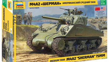 M4 A2 Sherman (1:35) Model Kit tank 3702 - Zvezda