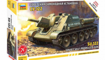 Model Kit tank 5043 - SU-122 Soviet Tank Destroyer (1:72) - Zvezda
